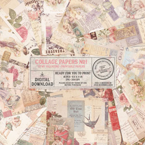 Printable Collage Papers No1