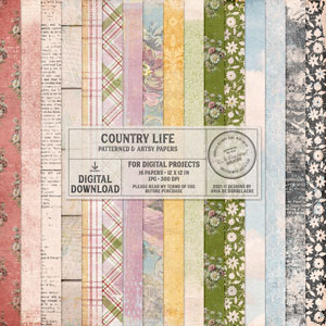 Country Life Patterned And Artsy Papers
