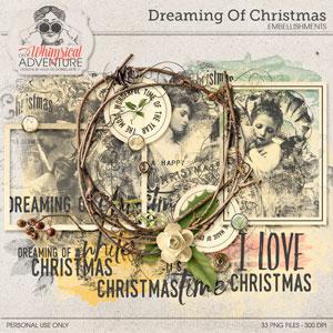 Dreaming Of Christmas Embellishments