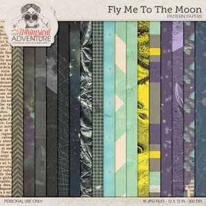 Fly Me To The Moon Pattern Papers