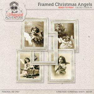 Framed Christmas Angels