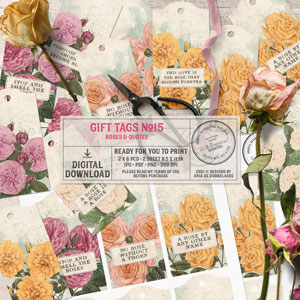 Gift Tags No15 Roses And Quotes