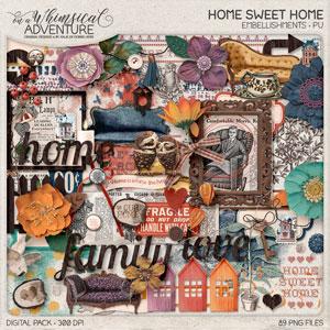 Home Sweet Home Embellishments
