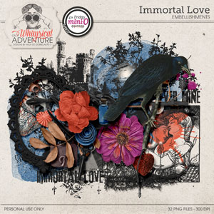Immortal Love Embellishments