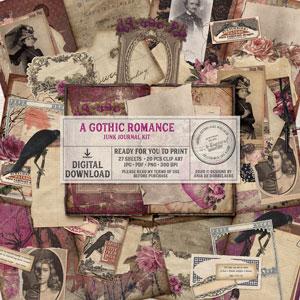 A Gothic Romance Junk Journal Kit