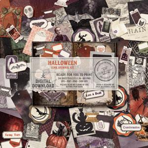 Halloween Junk Journal Kit