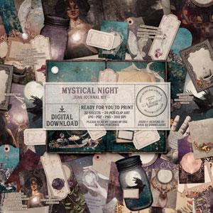 Mystical Night Junk Journal Kit