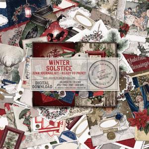 Winter Solstice Junk Journal Kit