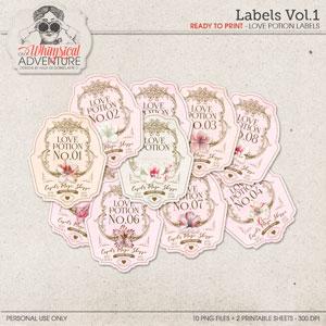 Labels Vol1 Love Potion