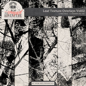 CU Leaf Texture Overlays Vol02