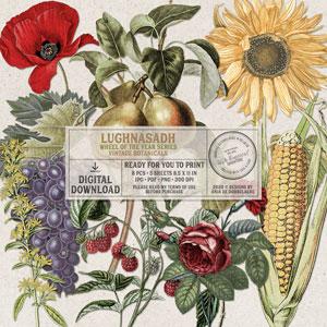 Wheel Of The Year Lughnasadh Vintage Botanicals