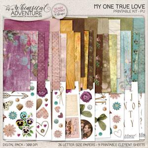 My One True Love Printable Kit