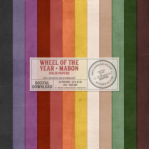 Wheel Of The Year Mabon Solid Papers
