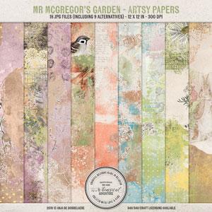 Mr McGregor's Garden Artsy Papers