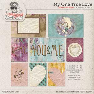 My One True Love Journal Cards