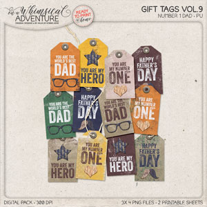 Number 1 Dad Gift Tags