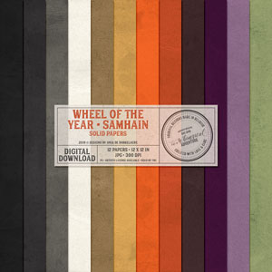 Wheel Of The Year Samhain Solid Papers