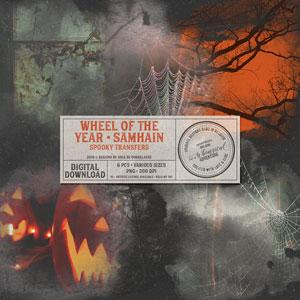 Wheel Of The Year Samhain Spooky Transfers