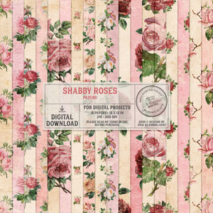 Shabby Roses Papers
