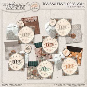 Somewhere In Time Tea Bag Envelopes