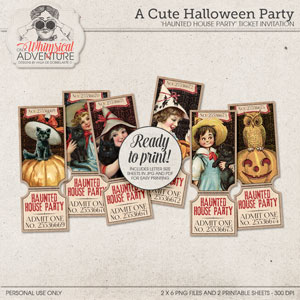 A Cute Halloween Party Tickets