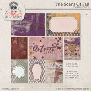The Scent Of Fall Journal Cards