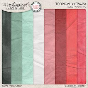 Tropical Getaway Solid Papers