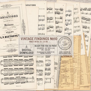 CU Vintage Findings No10 Sheet Music 1