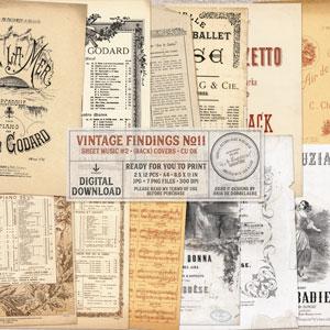 CU Vintage Findings No11 Sheet Music 2