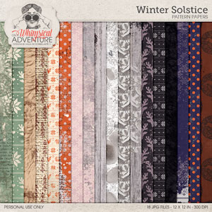 Winter Solstice Pattern And Mixed Media Papers