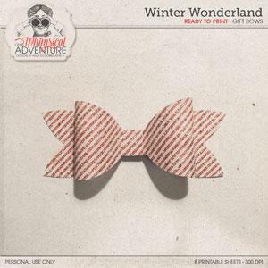 Winter Wonderland Gift Bows
