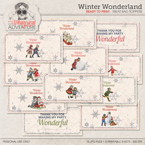 Winter Wonderland Treat Bag Toppers