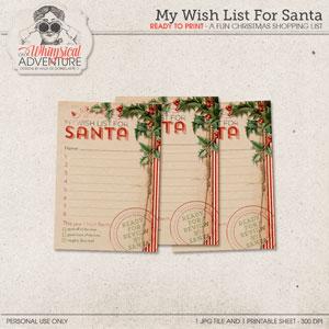 My Wish List For Santa