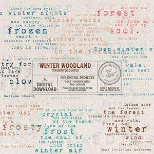 Winter Woodland Typewriter Quotes