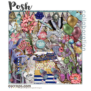 pOsh :: An Oscraps 2016 Birthday Collaboration