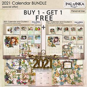 2021 - Calendar and Clusters - BUNDLE