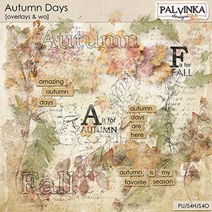 Autumn Days Overlays and WA