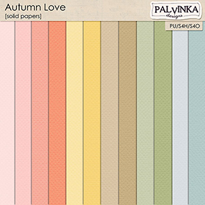Autumn Love Solid papers