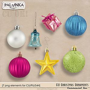 CU Christmas Ornaments