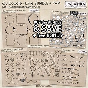 CU Doodles - Love: BUNDLE + free Bonus