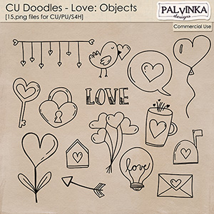 CU Doodles - Love Objects