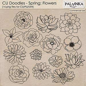 CU Doodles - Spring Flowers