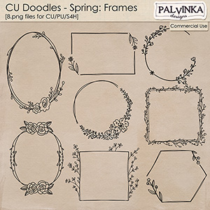 CU Doodles - Springs Frames