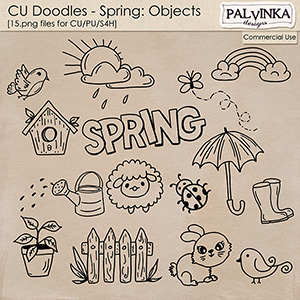 CU Doodles - Spring Objects