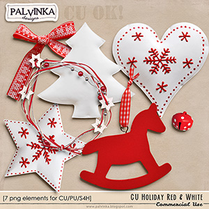 CU Holiday - Red & White