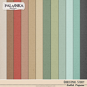 Christmas Story Solid Papers