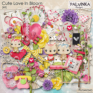 Cute Love In Bloom Kit and Alpha
