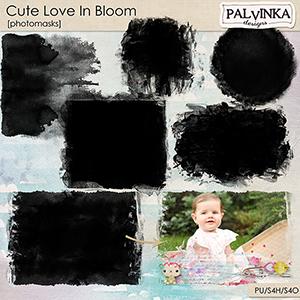 Cute Love In Bloom Photomasks