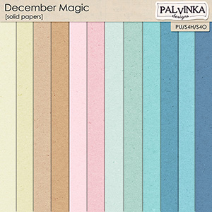 December Magic Solid Papers