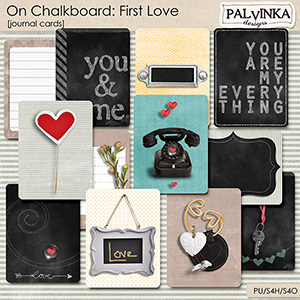 On Chalkboard: First Love Journal Cards